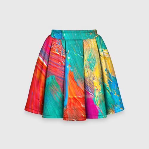 Детская юбка-солнце 3D Абстракция красок