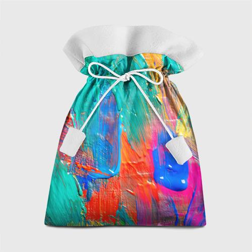 Подарочный 3D мешок Абстракция красок