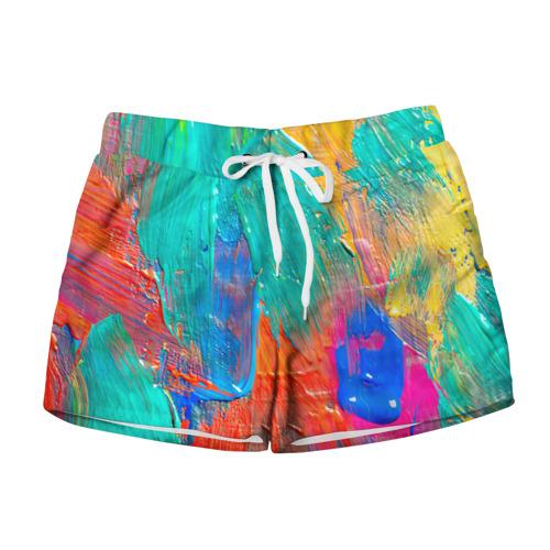 Женские шорты 3D Абстракция красок