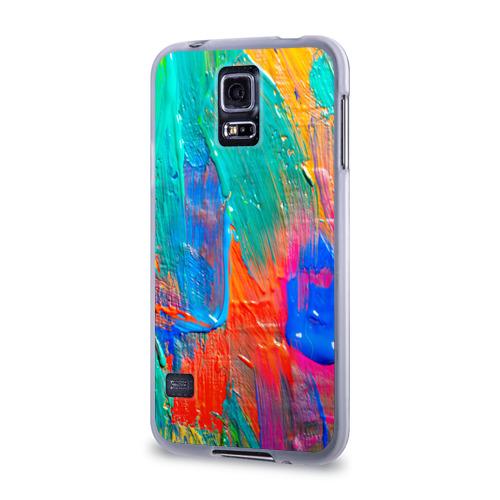 Чехол для Samsung Galaxy S5 силиконовый  Фото 03, Абстракция красок
