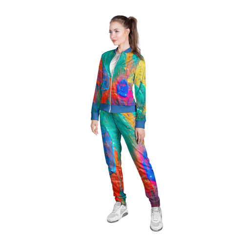 Женская олимпийка 3D Абстракция красок Фото 01