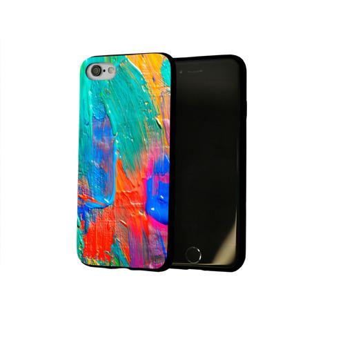 Чехол для Apple iPhone 8 силиконовый глянцевый  Фото 02, Абстракция красок