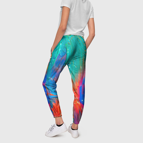 Женские брюки 3D Абстракция красок Фото 01