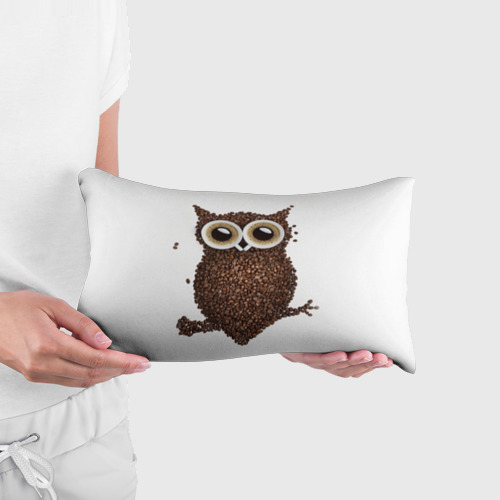 Подушка 3D антистресс Сова из кофе Фото 01