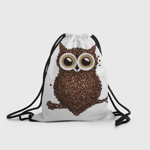 Рюкзак-мешок 3D Сова из кофе Фото 01