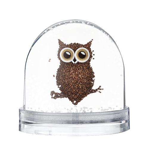Водяной шар со снегом Сова из кофе
