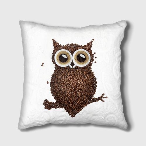 Подушка 3D Сова из кофе Фото 01