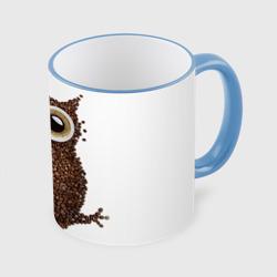 Сова из кофе