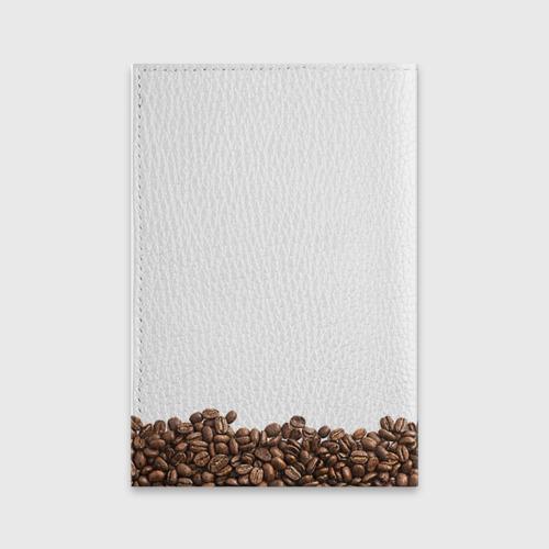 Обложка для паспорта матовая кожа Сова из кофе Фото 01