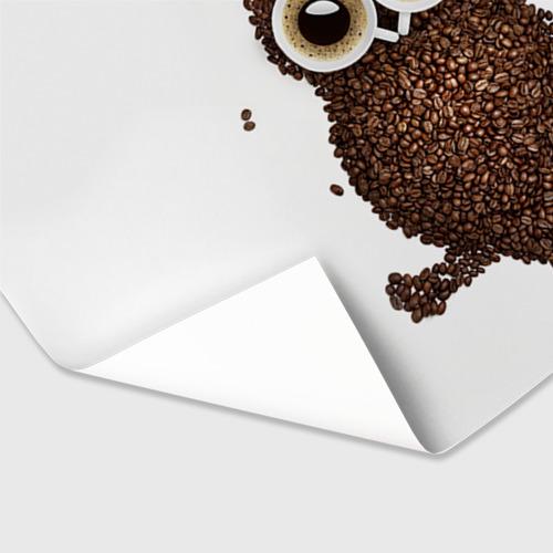 Бумага для упаковки 3D Сова из кофе Фото 01