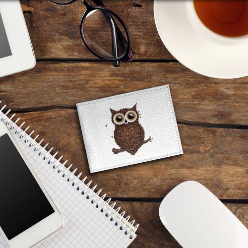 Обложка для студенческого билета Сова из кофе Фото 01