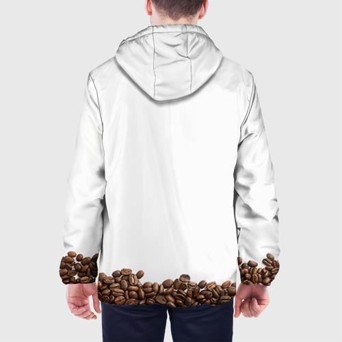 Мужская куртка 3D Сова из кофе Фото 01