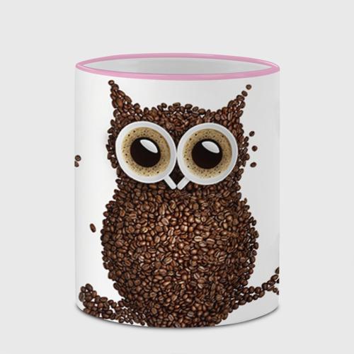 Кружка с полной запечаткой Сова из кофе Фото 01