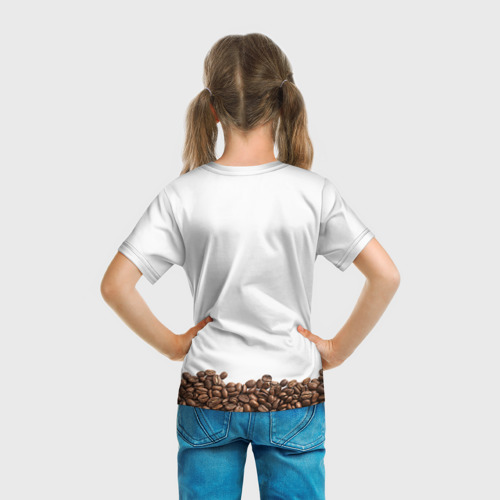 Детская футболка 3D Сова из кофе Фото 01