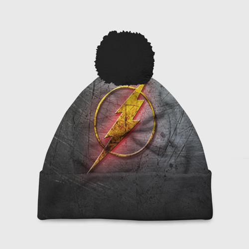 Шапка 3D c помпоном Супер Герой Flash