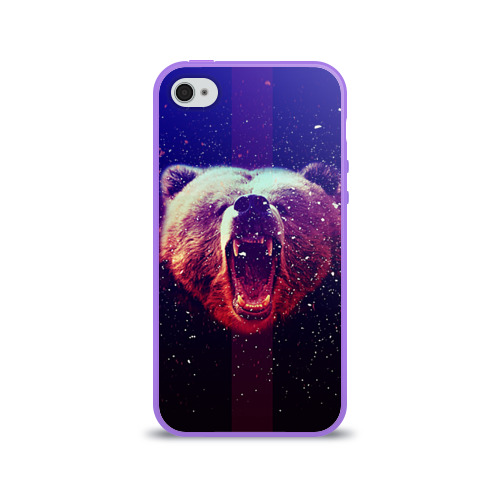 Чехол для Apple iPhone 4/4S силиконовый глянцевый  Фото 01, BearRoarrr