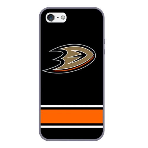 Чехол для iPhone 5/5S матовый Anaheim Ducks Selanne Фото 01