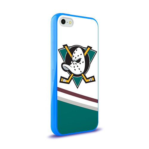 Чехол для Apple iPhone 5/5S силиконовый глянцевый  Фото 02, Anaheim Ducks Selanne
