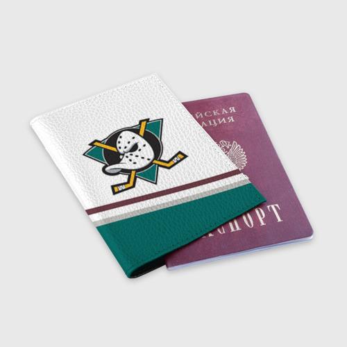 Обложка для паспорта матовая кожа  Фото 03, Anaheim Ducks Selanne