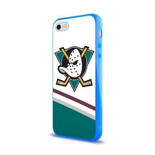 Чехол для Apple iPhone 5/5S силиконовый глянцевый  Фото 03, Anaheim Ducks Selanne