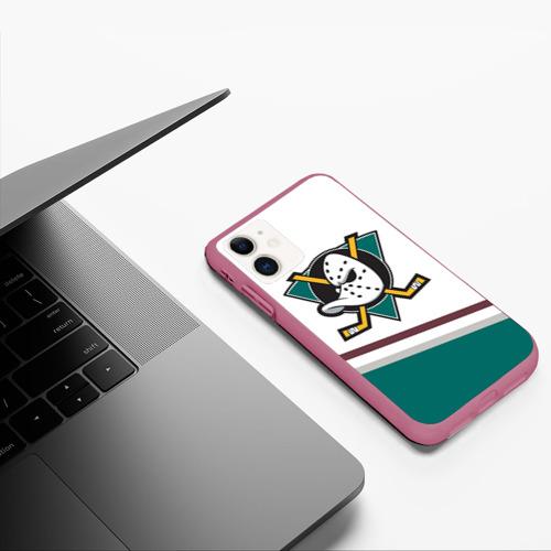 Чехол для iPhone 11 матовый Anaheim Ducks Selanne Фото 01