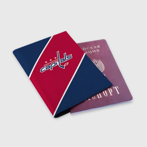 Обложка для паспорта матовая кожа  Фото 03, Washington capitals