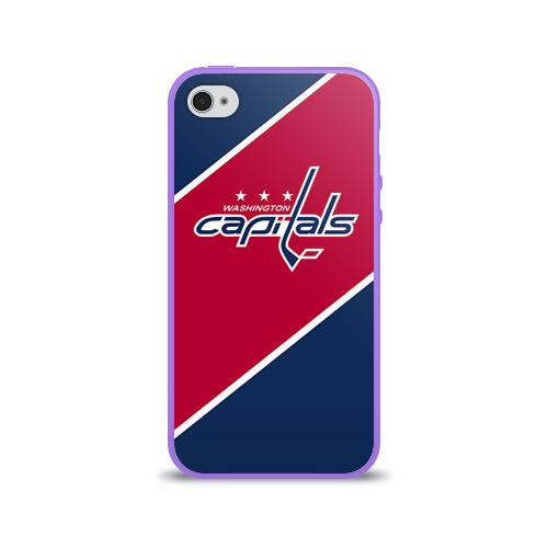 Чехол для Apple iPhone 4/4S силиконовый глянцевый Washington capitals