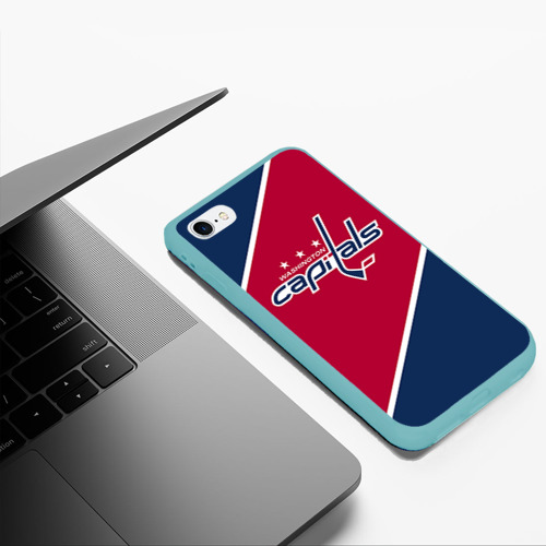Чехол для iPhone 6Plus/6S Plus матовый Washington capitals Фото 01
