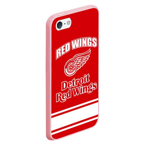 Чехол для iPhone 5/5S матовый Detroit red wings Фото 01