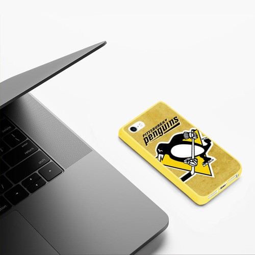 Чехол для iPhone 5/5S матовый Pittsburgh Pinguins Фото 01