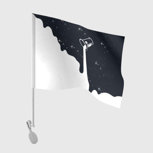 Флаг для автомобиля Черно-белый