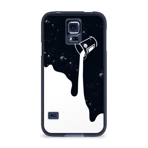 Чехол для Samsung Galaxy S5 силиконовый Черно-белый