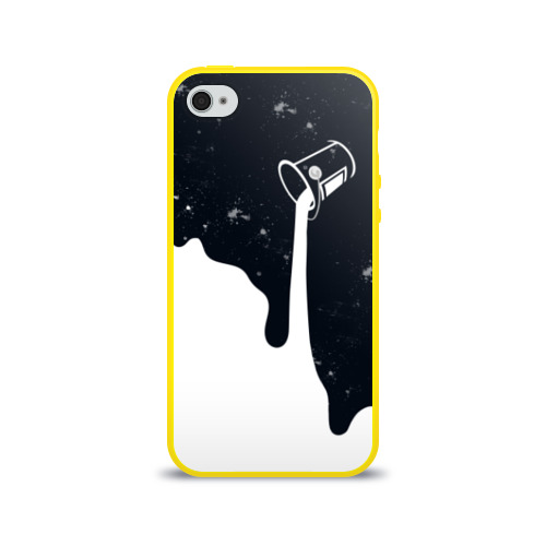 Чехол для Apple iPhone 4/4S силиконовый глянцевый Черно-белый