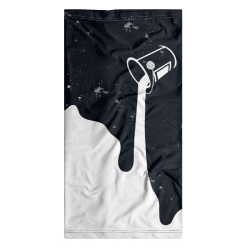 Бандана-труба 3D Черно-белый Фото 01