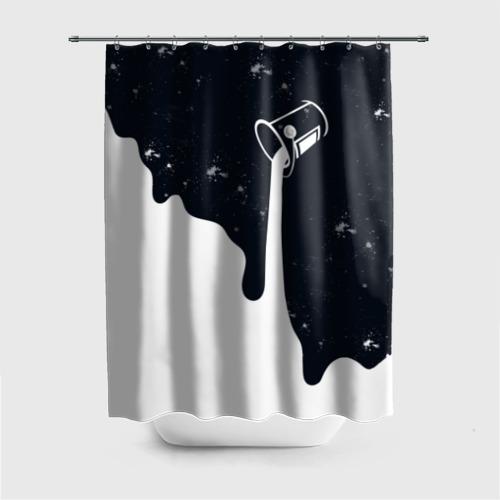 Штора 3D для ванной Черно-белый Фото 01