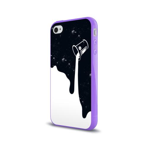 Чехол для Apple iPhone 4/4S силиконовый глянцевый  Фото 03, Черно-белый