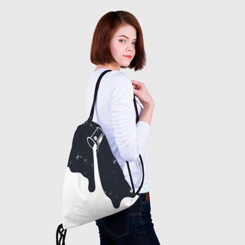 Рюкзак-мешок 3D Черно-белый Фото 01