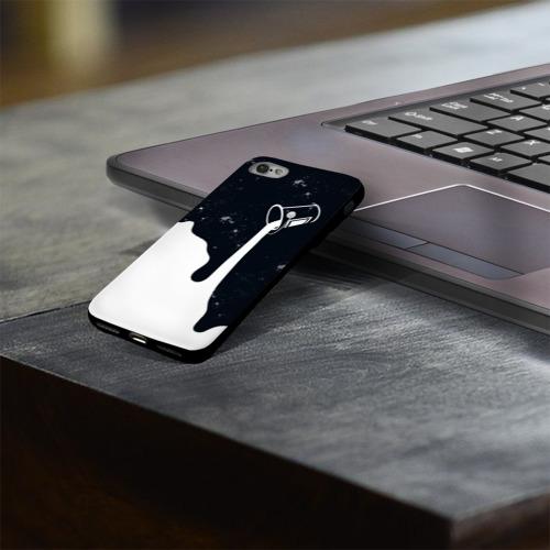 Чехол для Apple iPhone 8 силиконовый глянцевый Черно-белый Фото 01