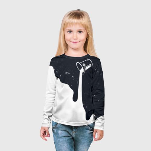 Детский лонгслив 3D Черно-белый Фото 01