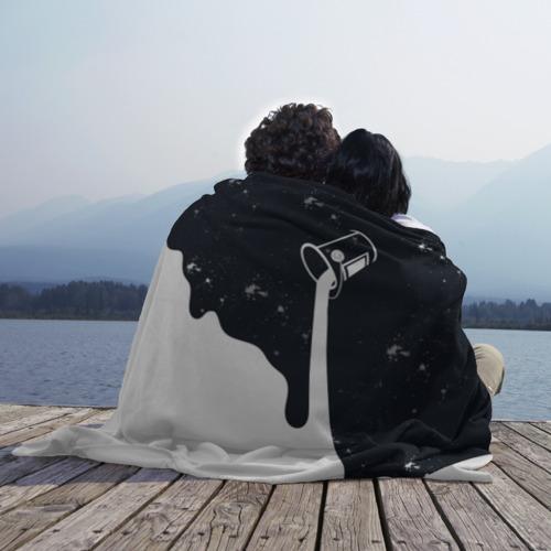 Плед 3D Черно-белый Фото 01