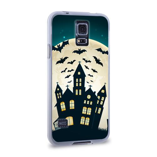 Чехол для Samsung Galaxy S5 силиконовый  Фото 02, Хэллоуин. Замок