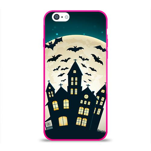 Чехол для Apple iPhone 6 силиконовый глянцевый  Фото 01, Хэллоуин. Замок