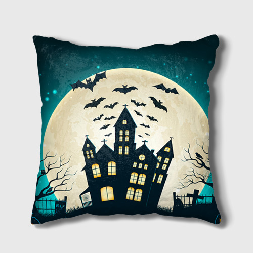 Подушка 3D  Фото 01, Хэллоуин. Замок