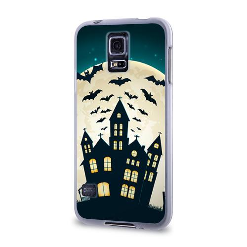 Чехол для Samsung Galaxy S5 силиконовый  Фото 03, Хэллоуин. Замок