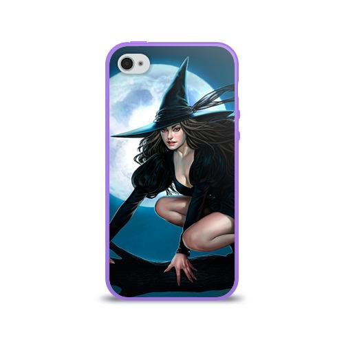 Чехол для Apple iPhone 4/4S силиконовый глянцевый  Фото 01, Ведьма