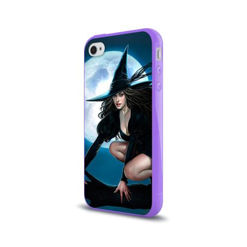Чехол для Apple iPhone 4/4S силиконовый глянцевый  Фото 03, Ведьма