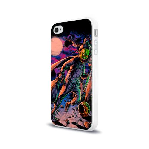 Чехол для Apple iPhone 4/4S силиконовый глянцевый  Фото 03, Хэллоуин
