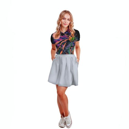 Женская рубашка поло 3D  Фото 04, Хэллоуин
