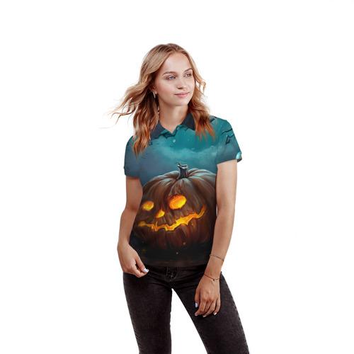 Женская рубашка поло 3D  Фото 03, Тыква