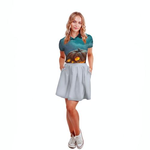 Женская рубашка поло 3D  Фото 04, Тыква